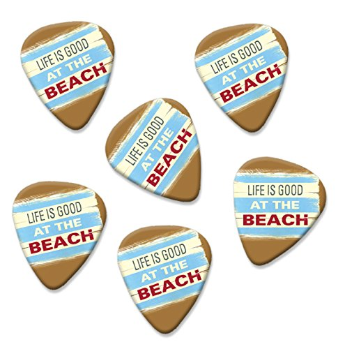 life-is-good-at-the-beach-martin-wiscombe-6-x-gitarre-plektrums-picks-vintage-retro