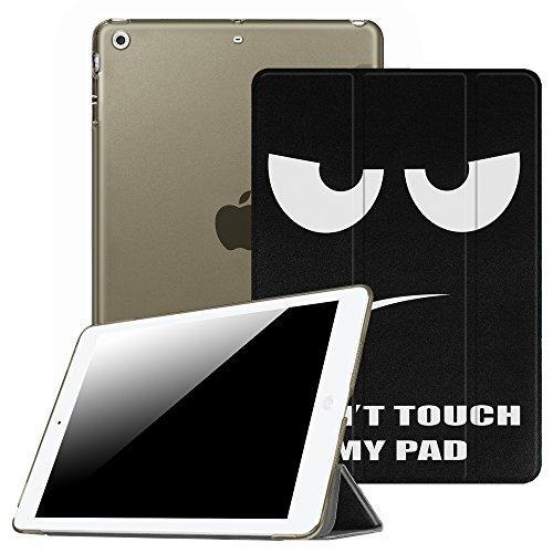Fintie Hülle für iPad Air 2 (2014 Modell) / iPad Air (2013 Modell) - Ultradünne Superleicht Schutzhülle mit Transparenter Rückseite Abdeckung mit Auto Schlaf/Wach Funktion, Don't Touch