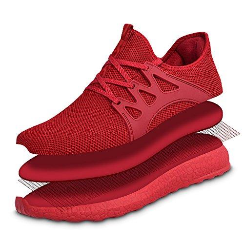 Zocavia Athlétique Chaussures De Course Sneakers Sportive Femme En Mode  Élégant Rouge Gym Chaussures ... bc7c83782eb6