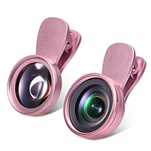 Yarrashop Clip On HD Teleobjektiv Handy Kamera Lens Objektiv-Set Objektiv-Kits 0,6x Super-Weitwinkelobjektiv + 15x Makroobjektiv for iPhone 6s/6s Plus, iPhone 6s/6/5, Samsung, HTC