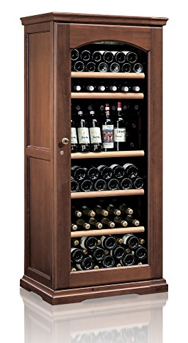 Ip Industrie - Cantina climatizzata legno massello porta in vetro capienza complessiva 112 bottiglie multitemperatura