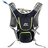 Senterlan S3079 Cycling Hydration Backpack With Mouth Water Bladder Bag - Navy Blue
