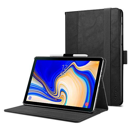 Spigen Galaxy Tab S4 Hülle, Stand Folio (Version 2) entworfen für Galaxy Tab S4 10.5 Zoll 2018 Case Cover (SM-T830/SM-T835) - Schwarz