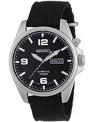 Seiko Herren-Armbanduhr Kinetic Analog Automatik Textil SMY143P1
