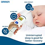 Omron MC 720 Non Contact Digital Infrared Forehead Thermometer With 1 Second Quick Measurement, 3 in 1 Measurement Mode, Auto On/Off & Backlight