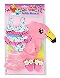 Heless 99 - Schwimmset für Puppen, Flamingo Ella, Größe 35 - 45 cm