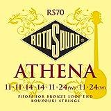 Rotosound Lot de 8 cordes Loop End pour bouzouki Bronze phosphoreux