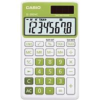 CASIO SL-300NC-GN calcolatrice tascabile - Display a 8 cifre, struttura di colore bianco/verde - Confronta prezzi