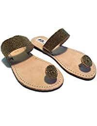 Sandali Originali Kenya Modello Serpente Argento Collezione Sisi Mbili (38)