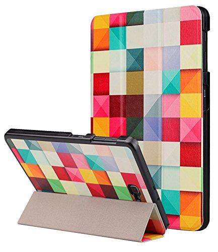 Galaxy Tab A 10.1 Hülle,Dailylux PU Leder Tasche Schutzhülle Schale Smart Cover mit Hart PC Rücken Deckel, mit Auto Schlaf / Wach Funktion und Stanfunktion für Samsung Galaxy Tab A 10.1 Zoll Tablet-Chromatic Latt (Pu-leder Tasche)