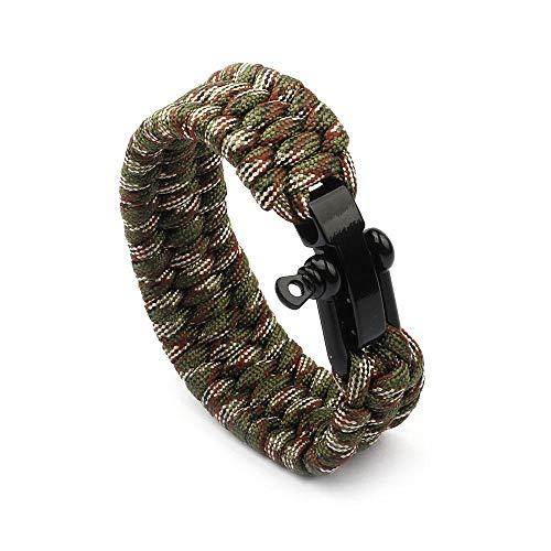 reifen Für Frauen Männer 7-Core Regenschirm Seil Lifeline Outdoor Survival Edelstahl Punk Geflecht Kette Weben Sicherheitskette @ 02. ()