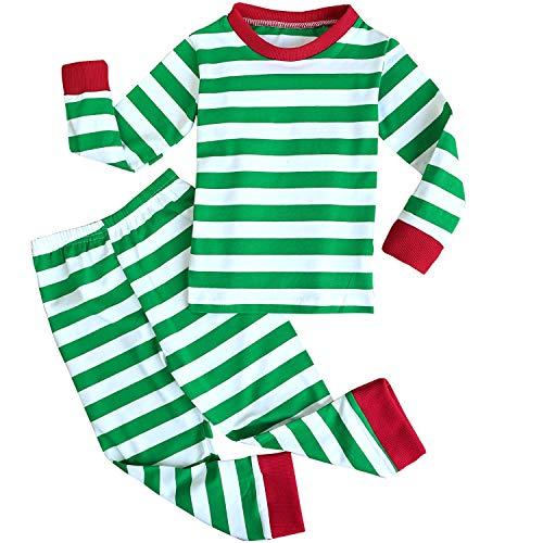 FANNCYINN Kinder Gestreifte Nachtwäsche Kleine Jungen Mädchen Lange Ärmel Baumwolle Pyjama Sets für Kinder 1-7 Jahre