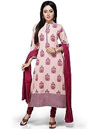 Vastra Vinod Peach Cotton Readymade Kurti With Legging