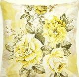 DESIGNERS GUILD Yellow Roses Kissen Bezug Seide Kopfkissen Überwurf Fall Stoff Tamariske Rose Bestickt