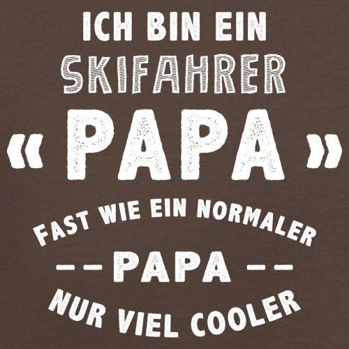 Ich bin ein Skifahrer Papa - Herren T-Shirt - 13 Farben Schokobraun
