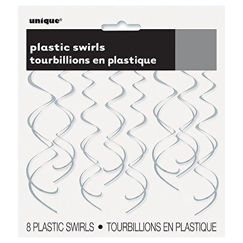 Kunststoff-Luftschlangen zum Aufhängen, Party-Dekorationen, 66 cm, 8Stück