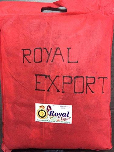 Royal Export Women's Georgette Blue Anarkali Semi-Stitched Salwar Suit