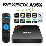 NEXBOX A95X Pro TV Box Android 6.0 Amlogic S905X Quad Core 2.0GHz STB 2Go RAM 8Go ROM VP9 4K H.265 HDR Média Player