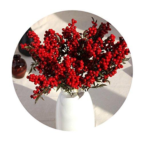 Provide The Best Haricots artificielles Fleurs Fleurs Bouquet de Noël Propice Berry Décoration intérieure Baies des Plantes