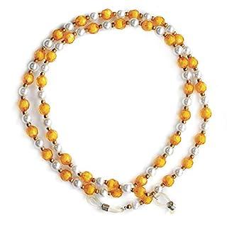 Ajetex Kristall-Perlen-Perlen- Brille Sonnenbrille Kette Inhaber Halskette Goldene und klar