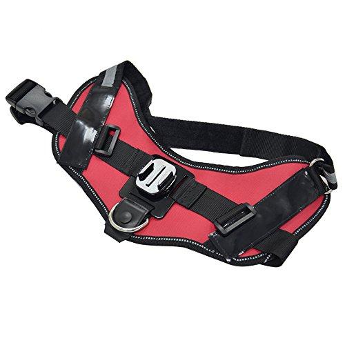 Greleaves Universal Dog Pet Harness Mount mit verstellbaren Fetch Brustgurt und anderen Gopro Zubehör für GoPro Hero 5/4/3+/3/XIAOYI / SJ und andere Sport-Kameras - 4