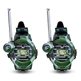 NiceButy 2 PCS Watch children's walkie-talkie remote two-way radio camouflage outdoor military toy