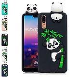LA-Otter Coque iPhone X/iPhone XS Noir Panda Ultra Fine Slim Mince Silicone TPU Gel...