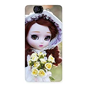 Stylish Bride Angel Doll Multicolor Back Case Cover for Canvas Knight A350