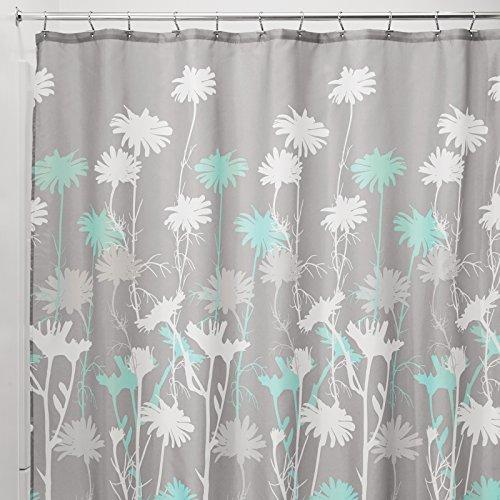 mDesign – Cortina de ducha con estampado de margaritas – Accesorio de baño...