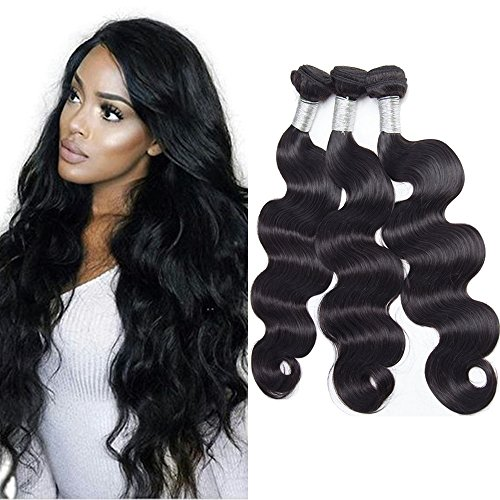 Maxine Hair Unprocessed Brazilian Virgin Hair Body Wave 3 Bundles Virgin 10A Grade Human Hair Extensions Natural Color (100+/-5g)/pc (18 20 22)