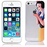 Case for iPhone 5 5S SE Cover Princesses Snow White Transparent TPU Soft Silicon Case Slim with Custom Design kaser