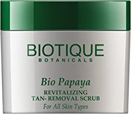 Biotique Bio Papaya Revitalizing Tan Removal Scrub for All Skin Types, 75g