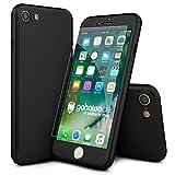 CASYLT [kompatibel für iPhone 8] Hülle 360 Grad Fullbody Case [inkl. 2X Panzerglas] Premium Komplettschutz Handyhülle Schwarz