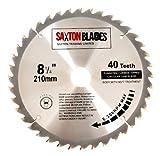 Saxton TCT Kreissägeblatt Holz Sägeblatt 210mm x 30mm x 40t für Festool Bosch Makita Dewalt passt 216mm Lochsägen