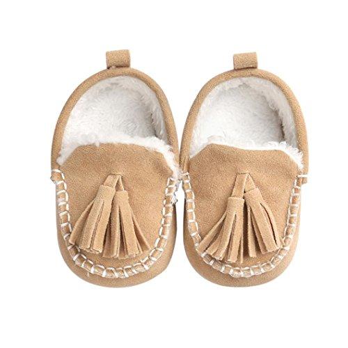 Ouneed® Krabbelschuhe , Christmas Baby Kleinkind Schuh weiche untere Anti Beleg Turnschuh beiläufige Khaki