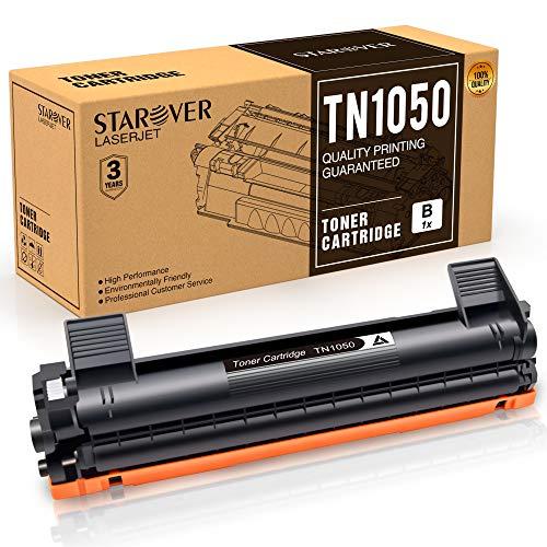 STAROVER 1x TN1050 TN-1050 Cartuccia Del Toner Nero Sostituire Per Stampante Brother HL-1110 DCP-1510 HL-1210W DCP-1610W HL-1112 MFC-1810 HL-1212W MFC-1910W DCP-1612W DCP-1512