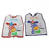 Kuber Industries™ T-shirt Style Knot Closure Saliva Towel Burp Cloth Baby / Infant / Kids Terry Feeding Bib - 2 to 5 Year - Set of 2