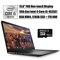 "Dell Inspiron 15 3593 2020 Newest Business Laptop, 15.6"" FHD Non-Touch Display, 10th Gen Intel 4-Core i5-1035G1 , 8GB DDR4 128GB SSD 1TB HDD, 2GB Nvidia 230MX Win 10"
