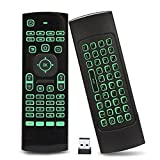 Fernbedienung Tastatur Maus 2.4 GHz bunt retro Beleuchtung Mini Kabellos Tastatur erbaute Gyro Sensor mit Infrarot Fernbedienung für Android TV Box Windows HTPC PC Smart TV Raspberry Pi etc