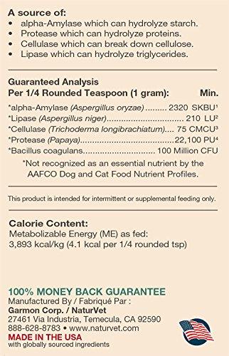 NaturVet Digestive Enzymes and Probiotics, 453 g 3