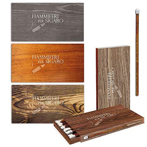 Scopri offerta per Fiammiferi per sigari Cigar Wood Fiammino - 1 Box da 24 scatoline