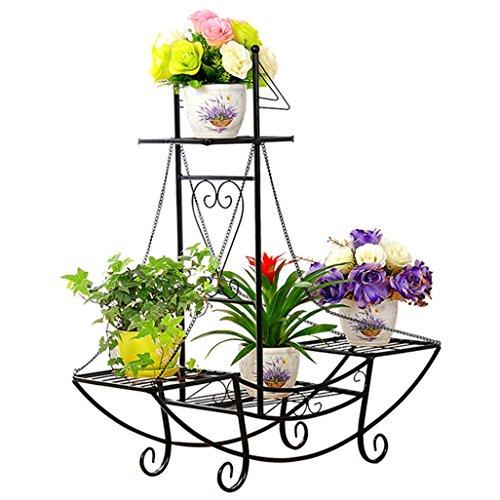 XL Pflanzregal SHINE bronze Standregal Eisen Tisch Garten Blumenständer Regal