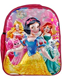 fa28b0a0c15 Tinystar Kids Trends Disney Princess 3D Character Embossed Polyester 13  Inches School Bag