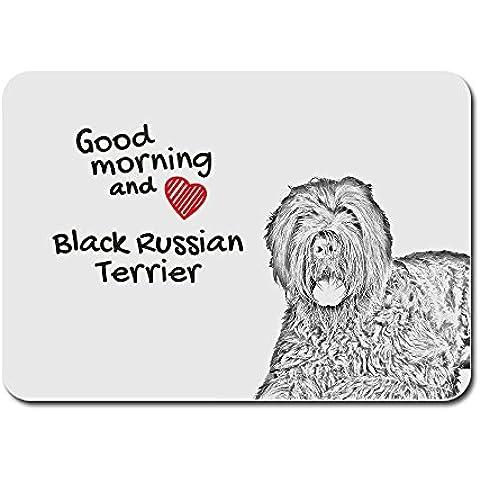 Terrier ruso negro, Un cojín de ratón de la computadora con una imagen de un perro
