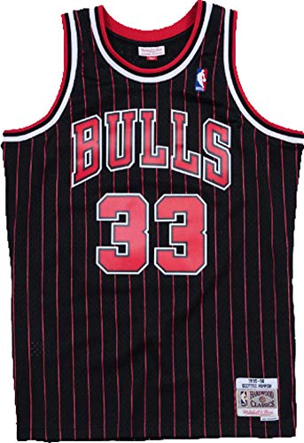 Mitchell & Ness Swingman Jersey Chicago Bulls Scotty Pippen 33 Black/Red XXL