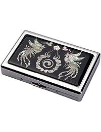 Etui Compact Elegant Design de Nacre Corée Symbole Paix DOUBLE PHOENIX  Intérieur Métallique pour 16 Cigarettes cd750db0bd4