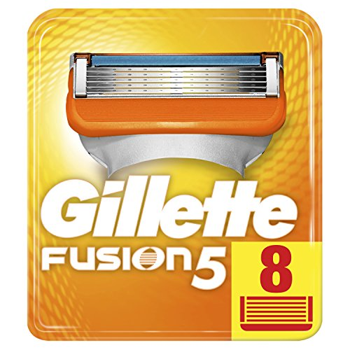 Gillette Fusion5 Razor Blades For Men, 8 Refills, with 5 Anti-Friction Blades, for a Shave You Barely Feel Packaging May Vary