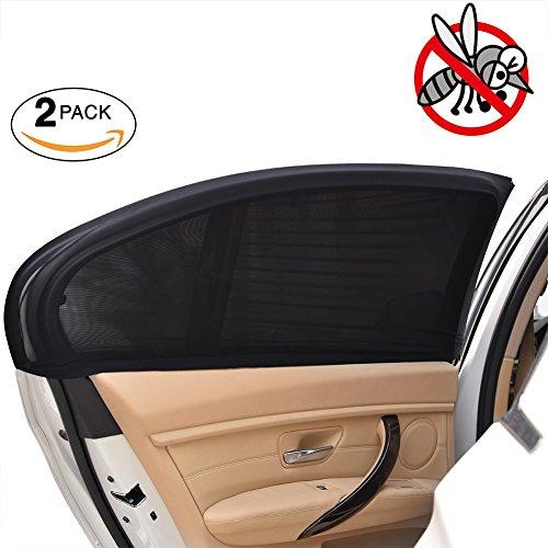 Preisvergleich Produktbild E-Bestar 2pcs Auto sonnenschutz Auto seitenscheibe Doppellagige Sonnenblenden Auto Anti-Moskito Netz Sunshades for Car (L)