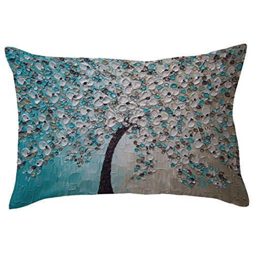 Indexp Rectangle Tree Pattern Printing Throw Cushion Cover Sofa Home Decoration Pillow case (Style A)