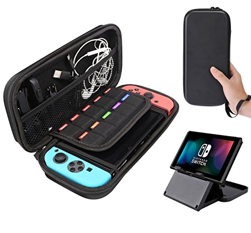 Price comparison product image Nintendo Switch Case and Foldable Multi Angle Stand [2 IN 1]